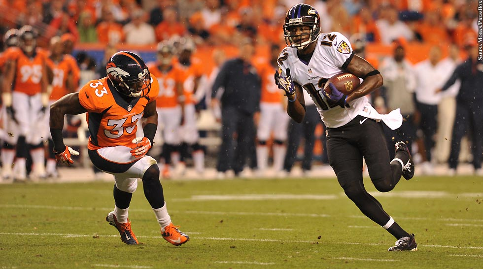 Ravens 2013: Week 1 at Broncos No. 4 (Jacoby Jones)