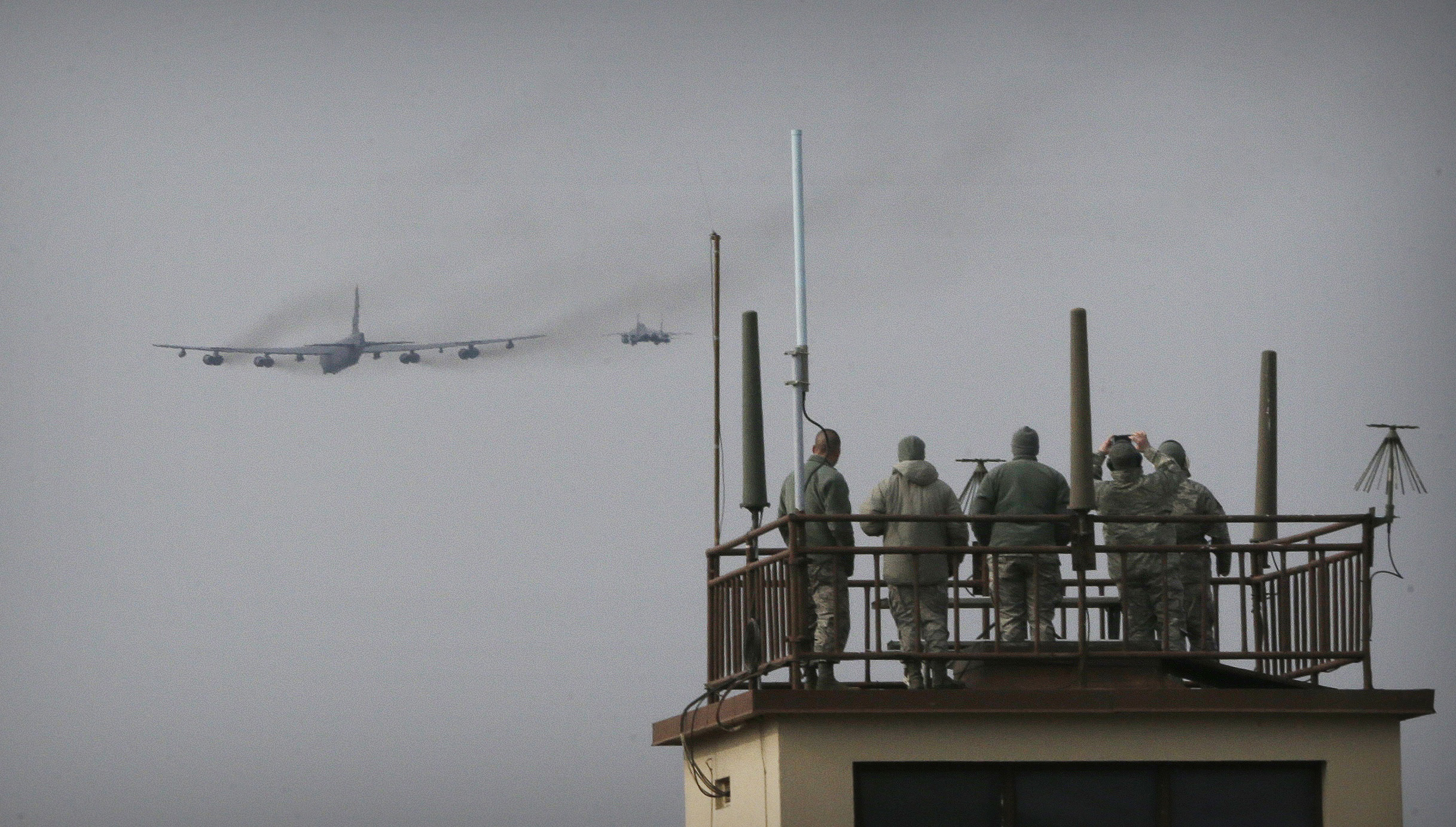 B-52 flyover at Osan Air Base