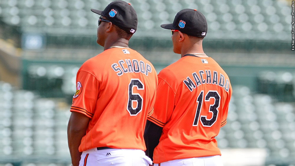 Issue 221: Orioles 2016: Jonathan Schoop, Manny Machado (spring training)