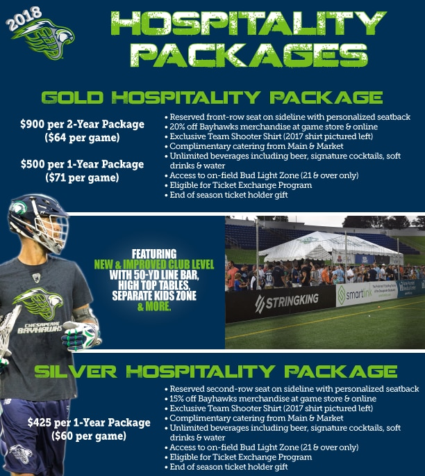 2018 Gold And Silver Hospitality Packages