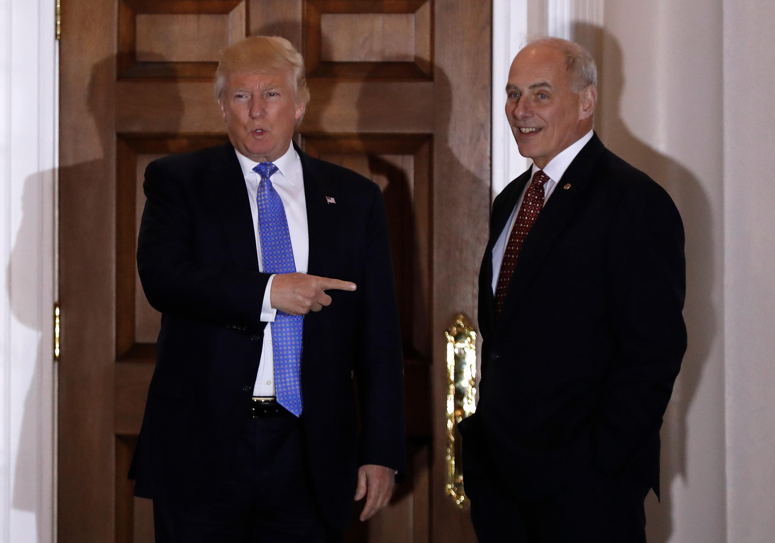 Trump Gen. Kelly meeting AP