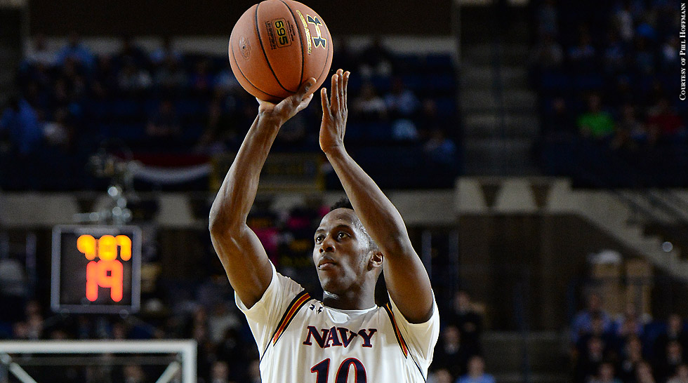 Navy Men's Basketball 2015-16: Tilman Dunbar (shooting)