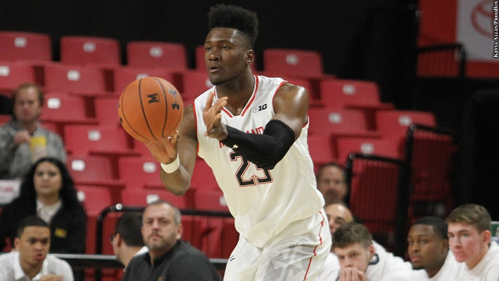 Maryland Terps Basketball 2018-19: Bruno Fernando (passing)