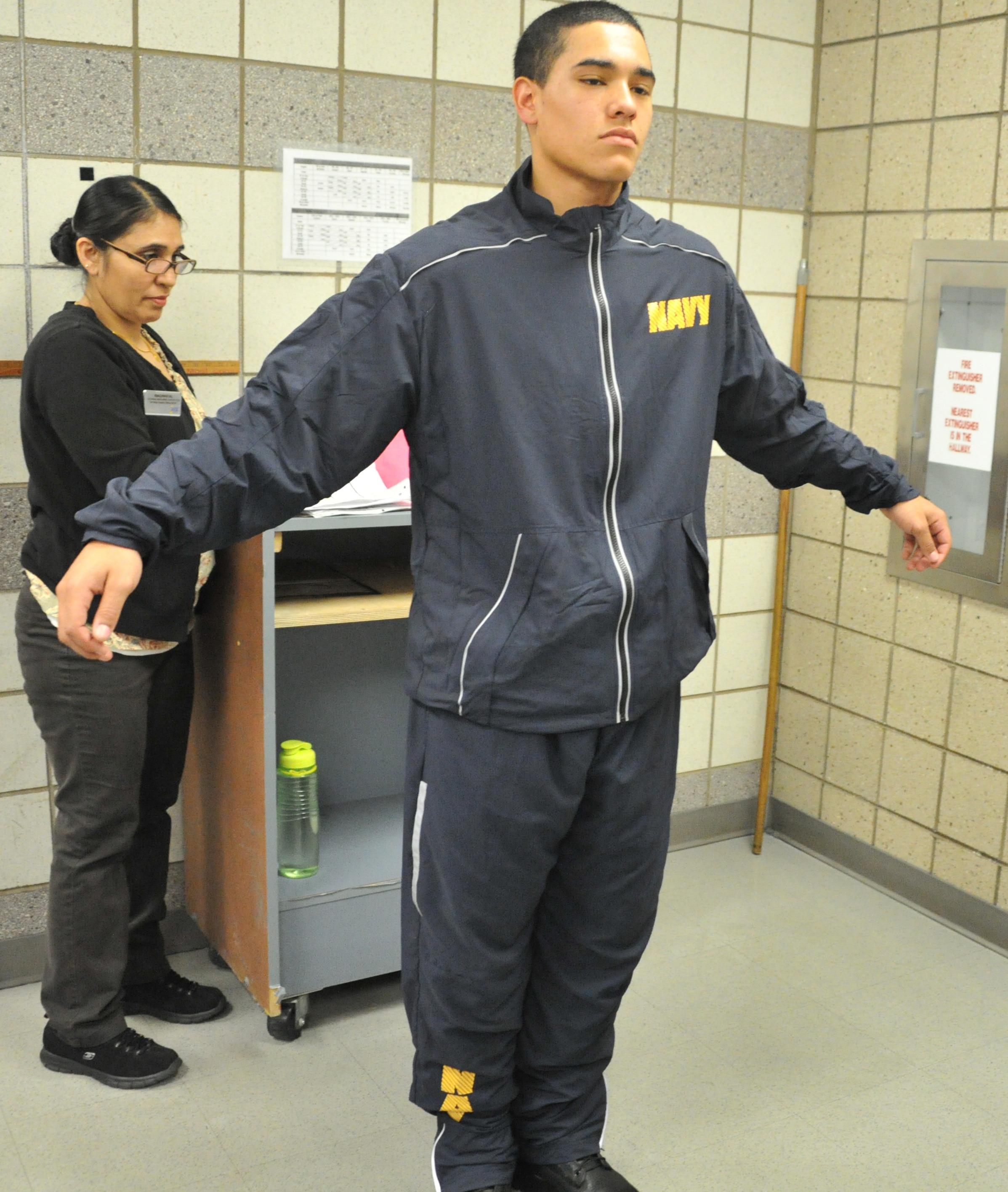 Navy Fitness Suit 3