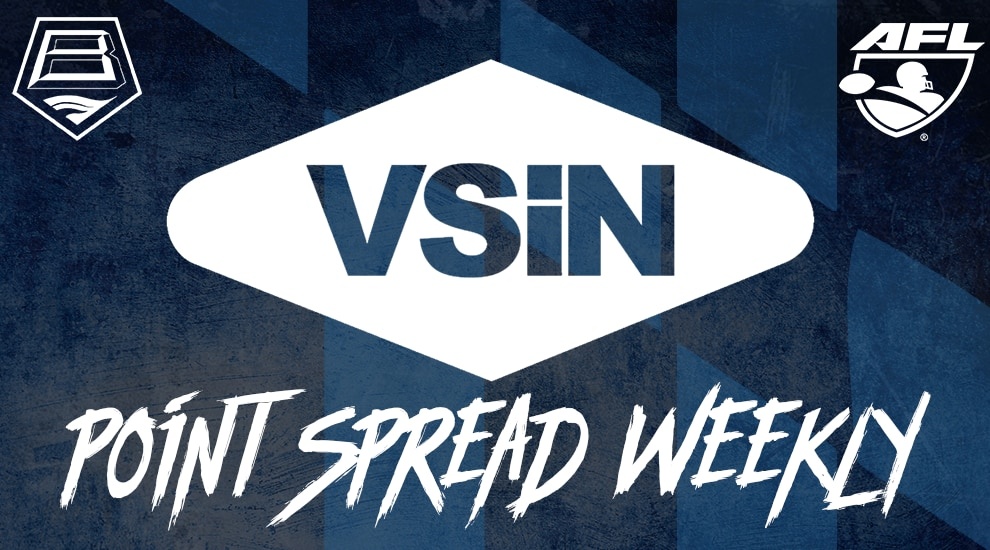 graphic relating to Printable Bowl Schedule With Point Spreads identify VSiN Stage Distribute Weekly