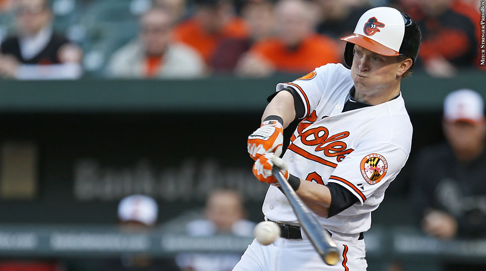 Orioles 2013: Nate McLouth (batting)