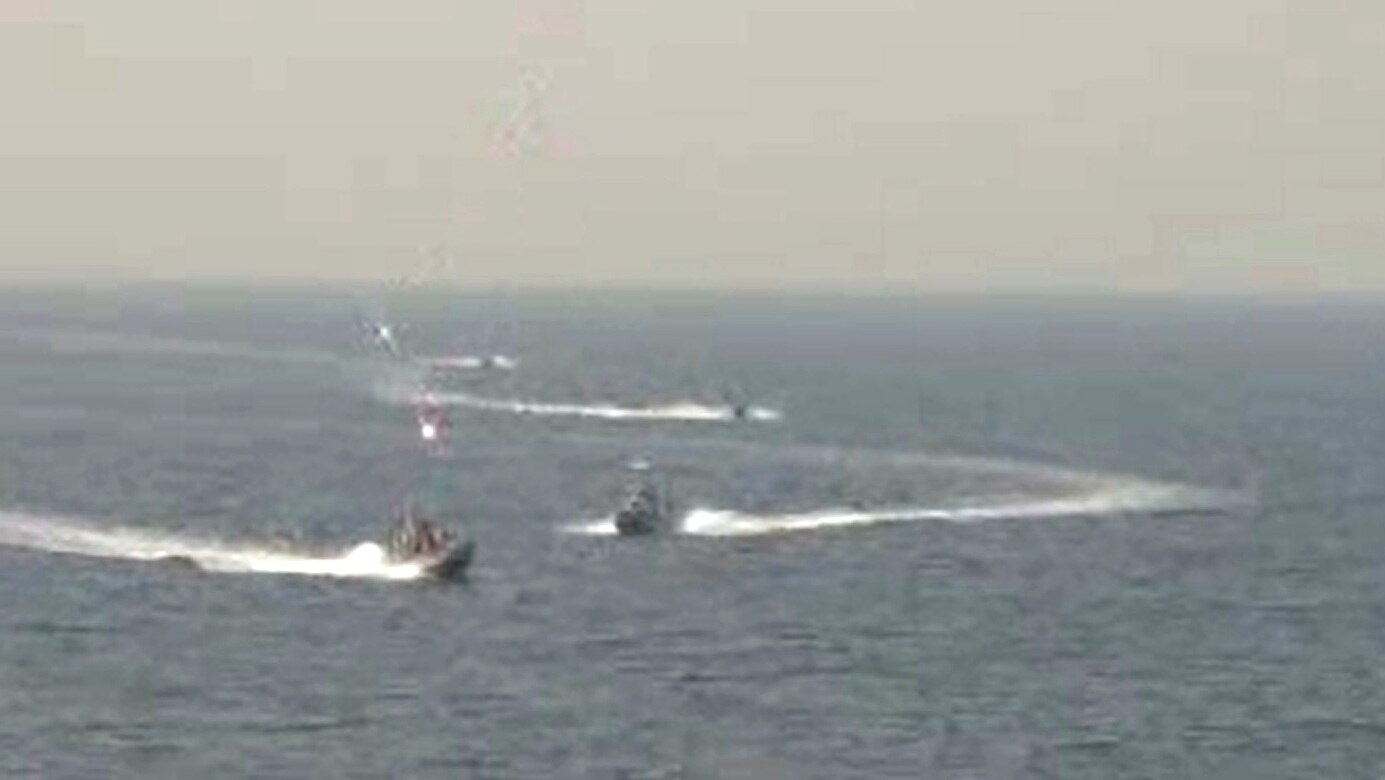 4 Iranian Naval Revolutionary Guards vessels