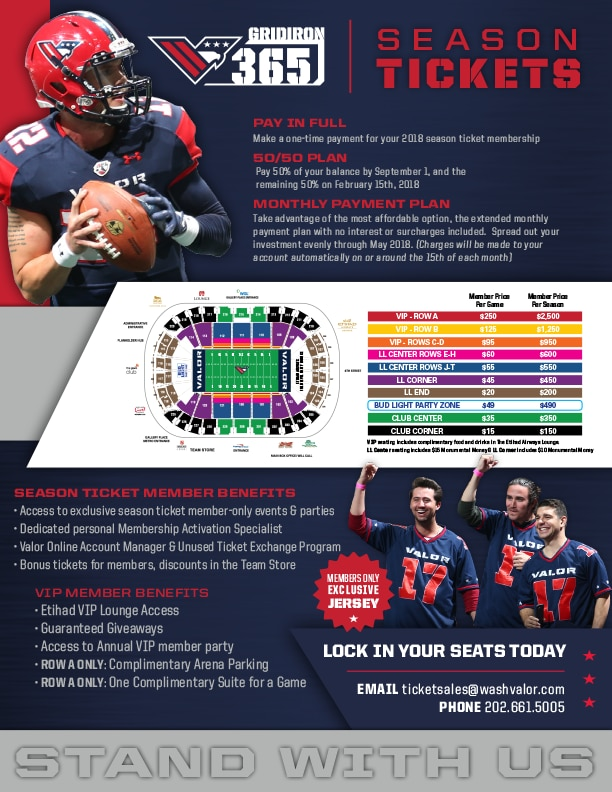 Seating Map Washington Valor The Official Home