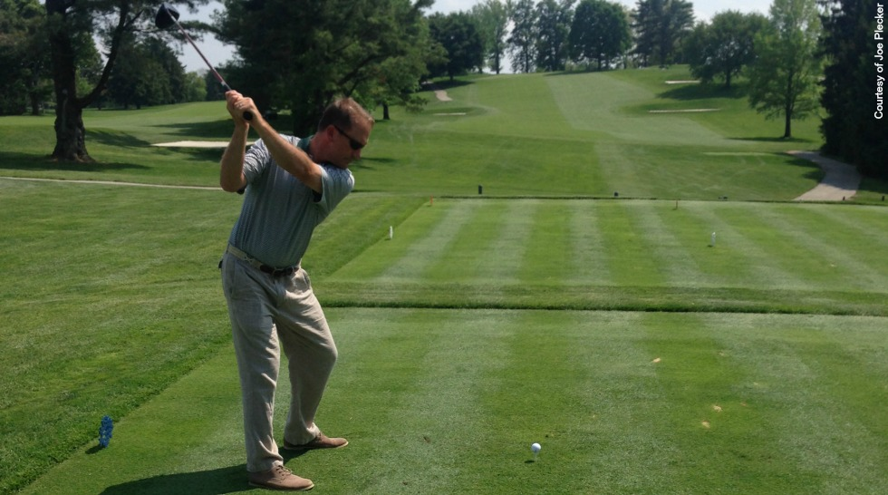 Joe Plecker Golf: starting backswing