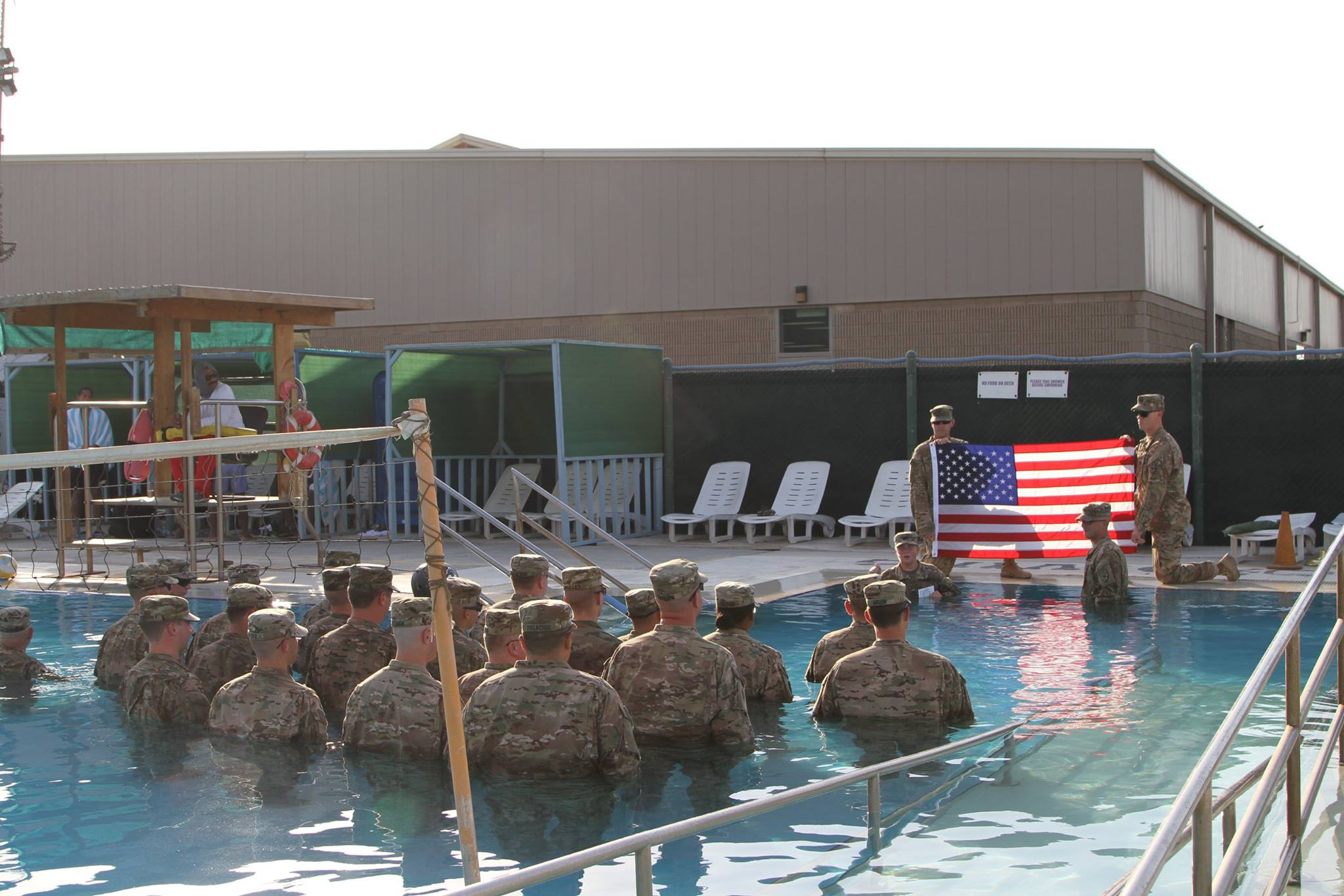 Smalley re-enlistment Kuwait pool