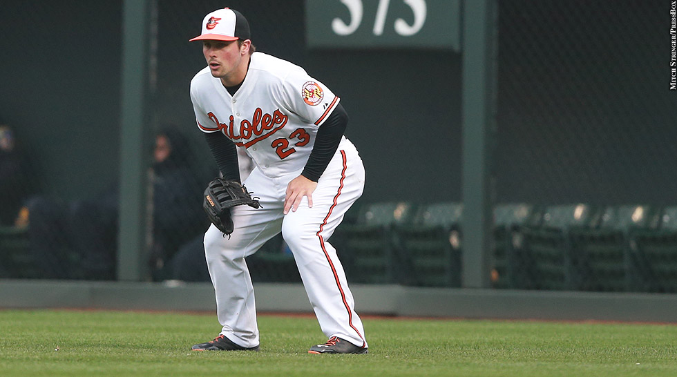 Orioles 2015: Travis Snider (in the field)