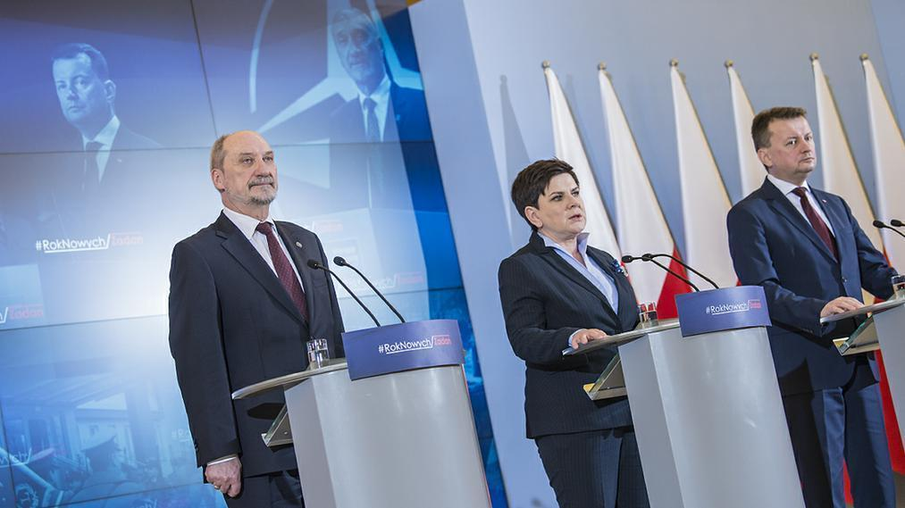 Polish officials news conference