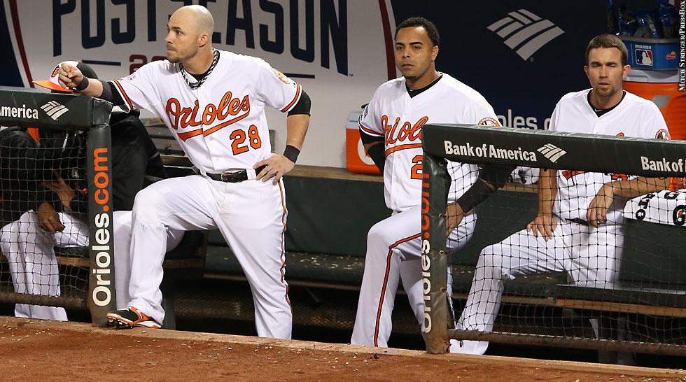 Orioles 2014: Bench: Steve Pearce, Nelson Cruz, J.J. Hardy (ALDS Game 1)