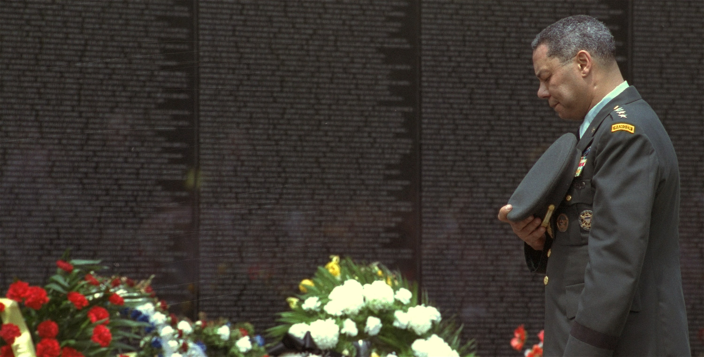 Colin Powell Vietnam Wall