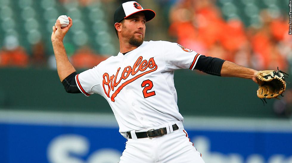 Orioles 2015: J.J. Hardy (throwing 3)