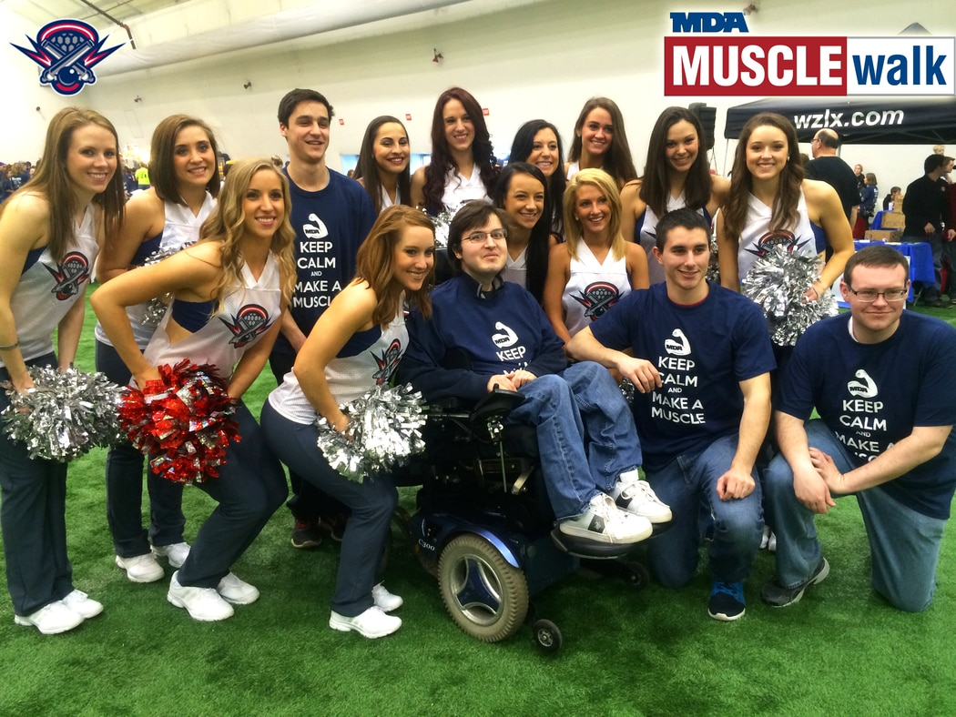 cannons attend mda muscle walk at gillette stadium