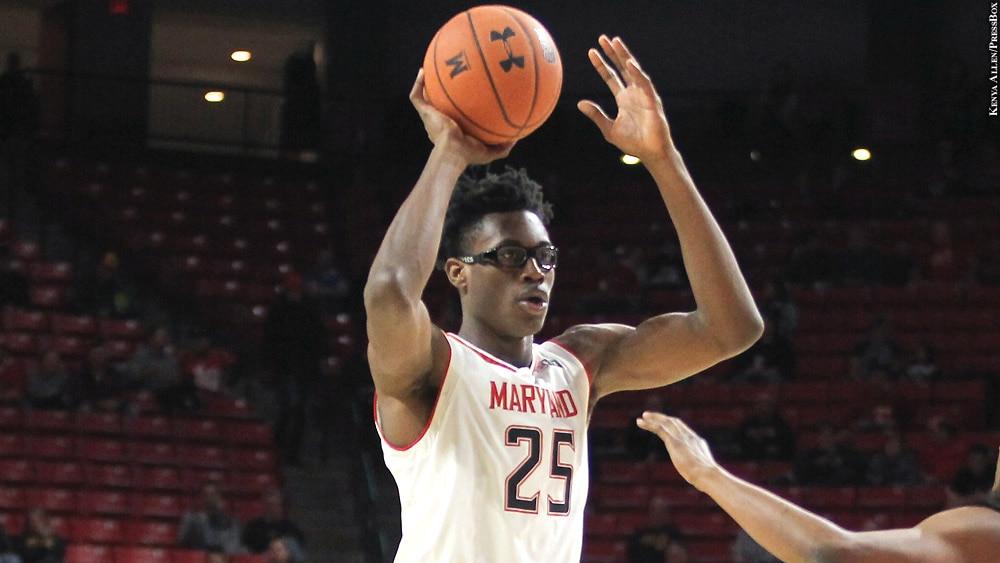 Maryland Terps Basketball 2018-19: Jalen Smith (with basketball)