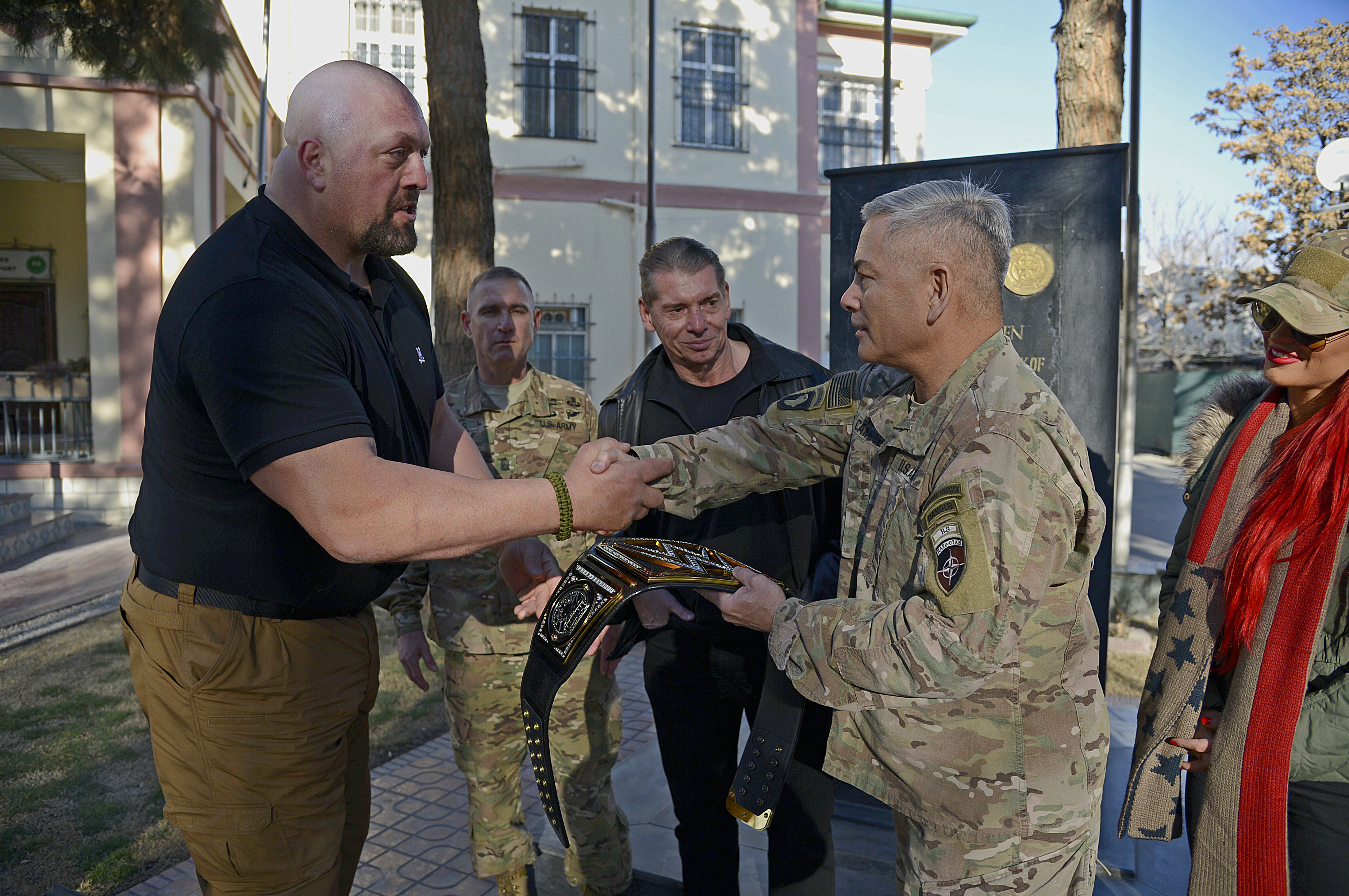 WWE visits Resolute Support Headquarters in Kabul, Afghanistan