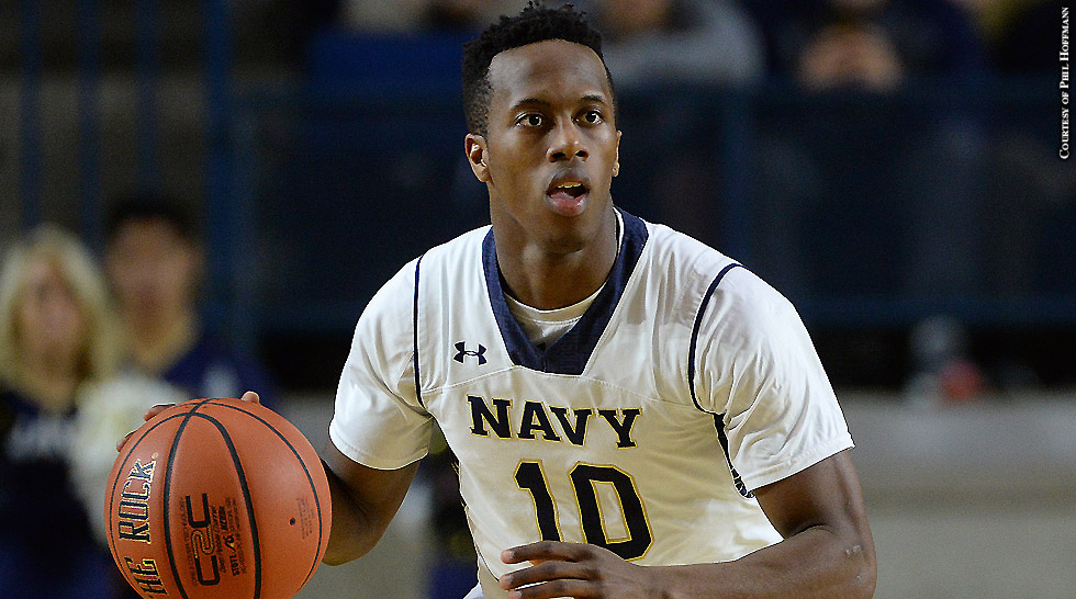 Navy Men's Basketball 2015-16: Tilman Dunbar (dribbling)