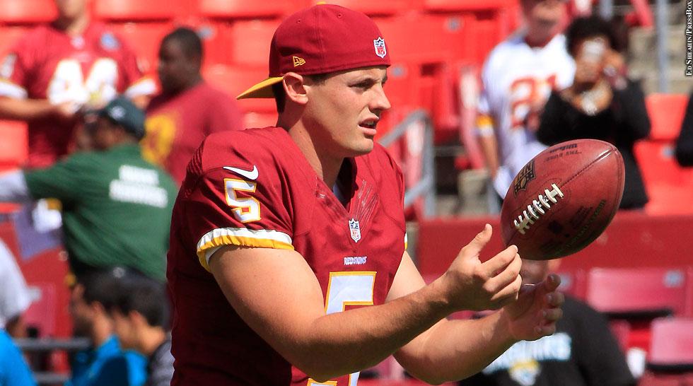 Redskins 2014: Tress Way (Week 2 vs. Jaguars)