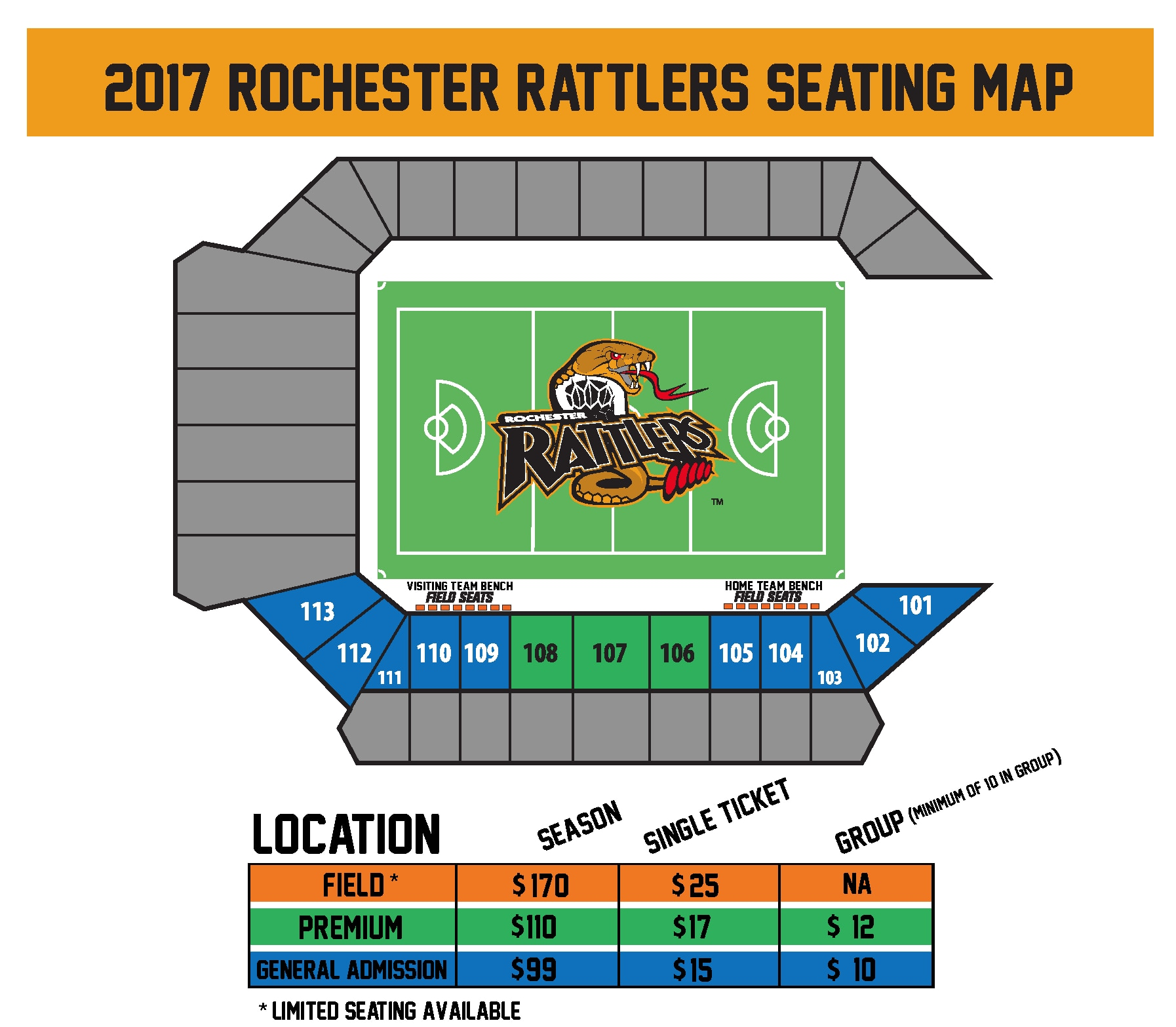 Rochester Rattlers Seating Chart - Capelli Sport Stadium