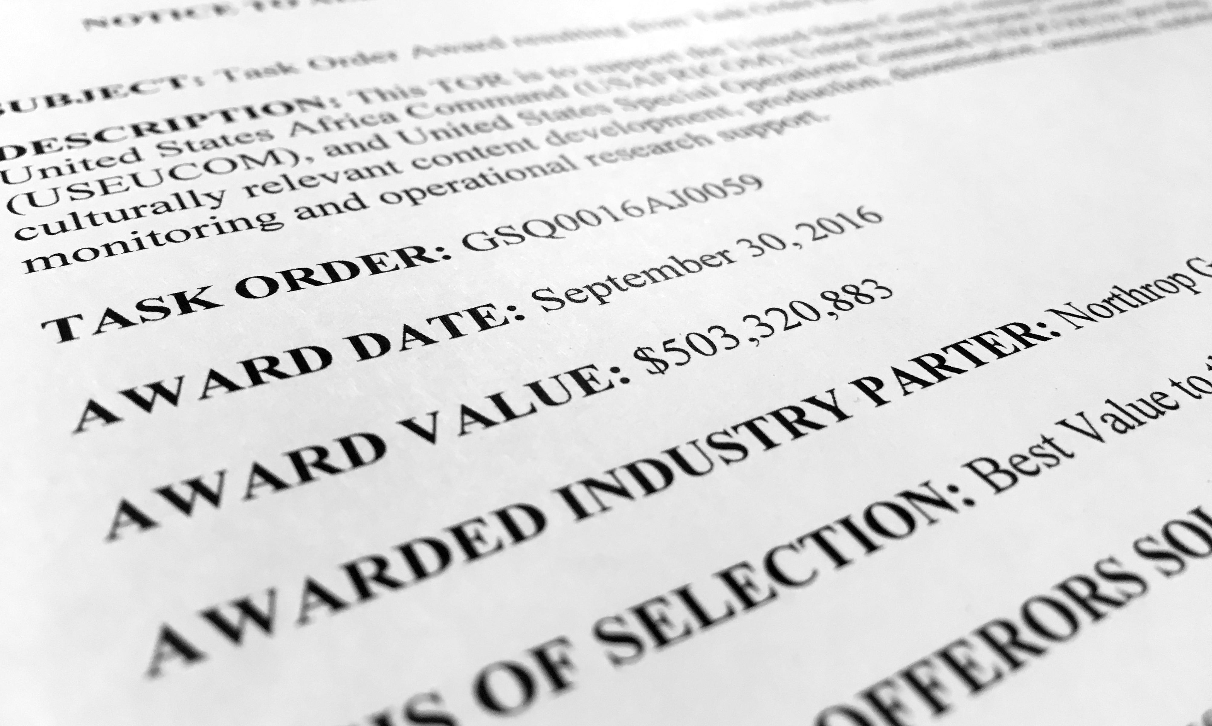 Northrup Grumman contractors 13117
