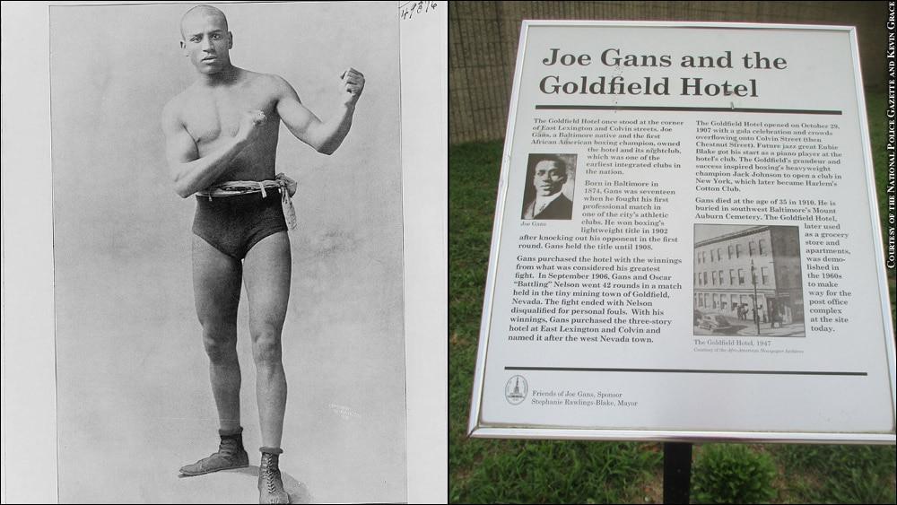 Issue 259: Joe Gans, Sign at Goldfield Hotel