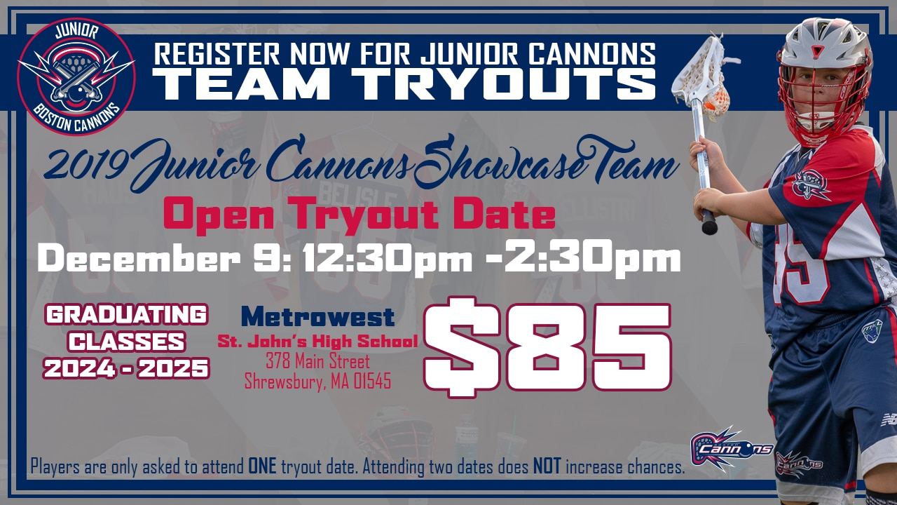Junior Cannons Tryout #3 (U13)