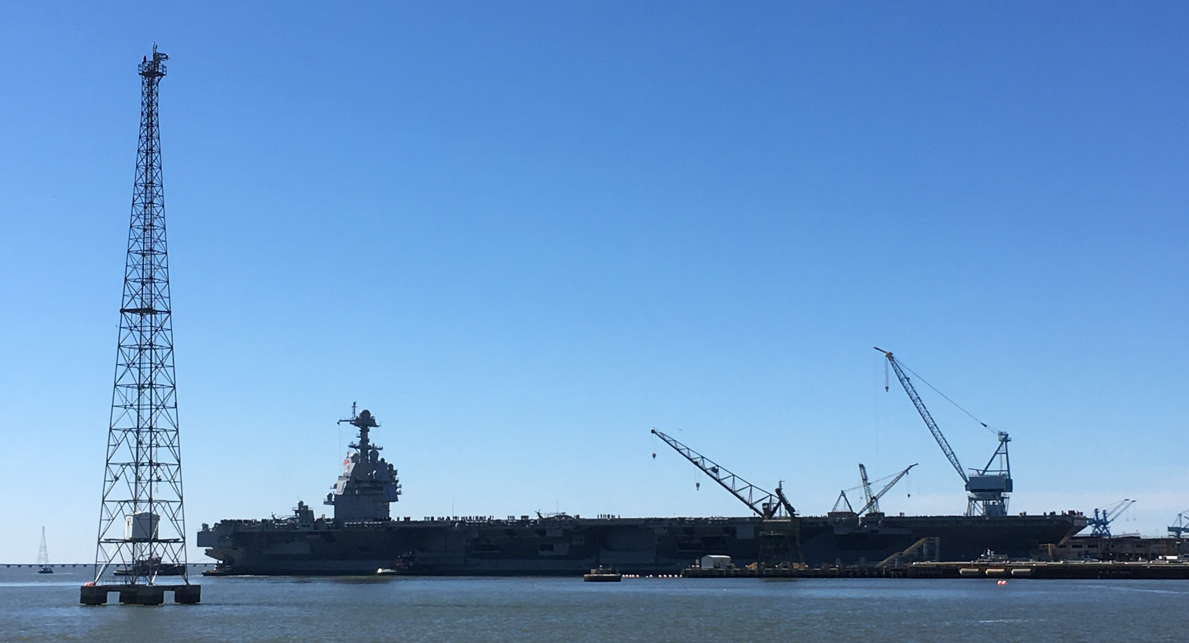 Supercarrier USS Gerald R Ford starts sea trials