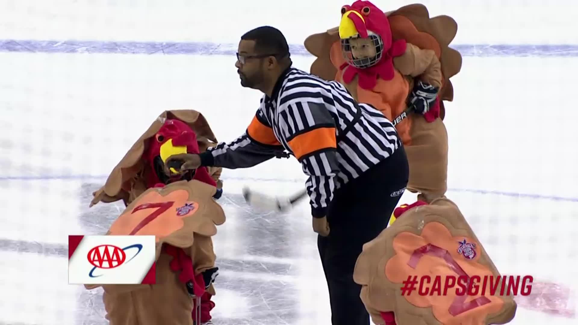 #CapsGiving Mites On Ice 11/22/17