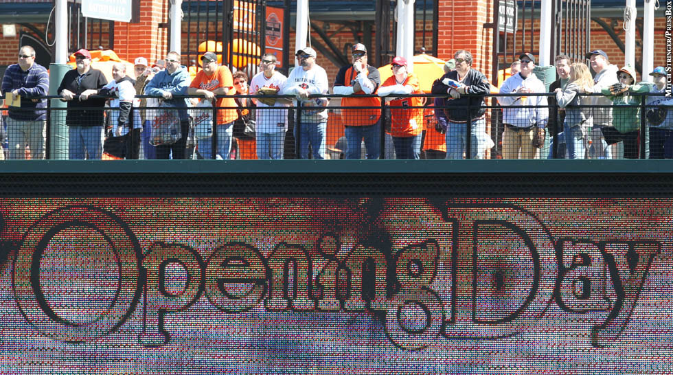 Orioles 2012: Fans at Opening Day