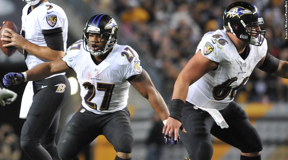 Ravens 2013: Ray Rice, Gino Gradkowski