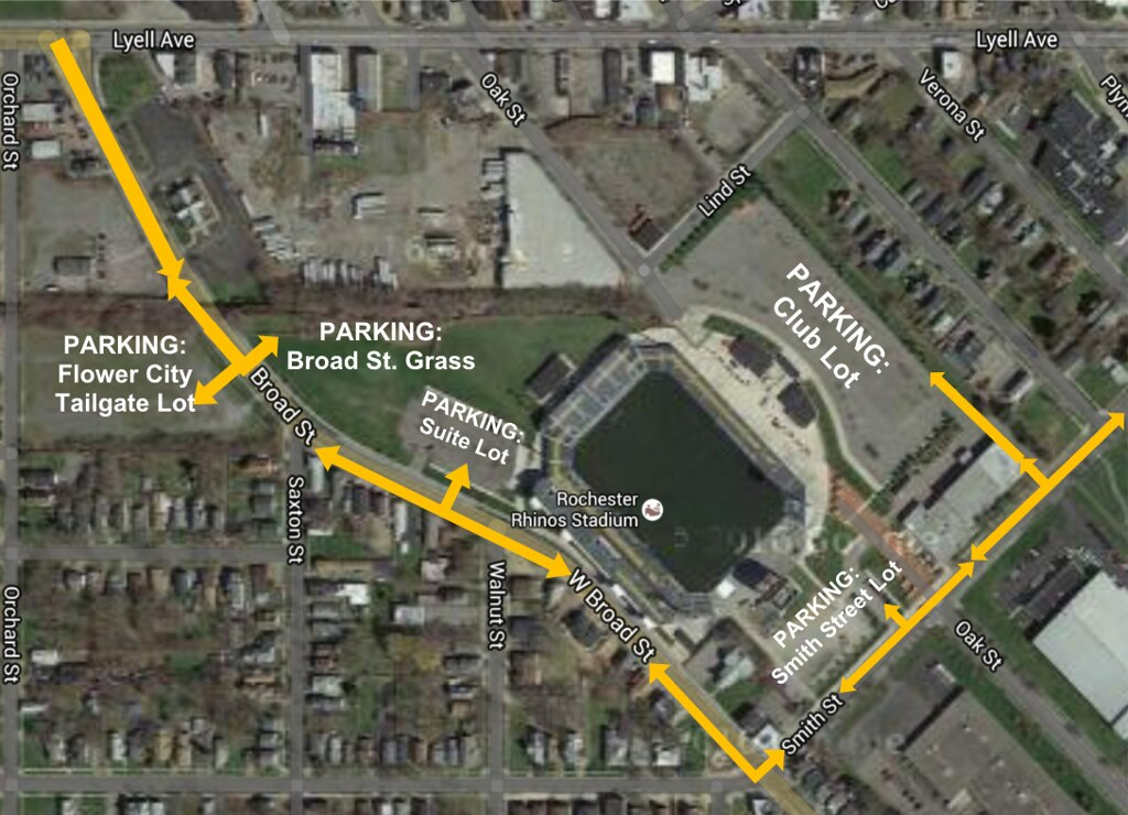 Rhinos Stadium Directions