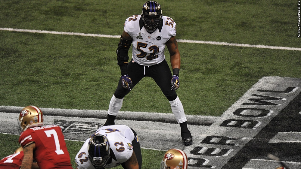 Ray Lewis (Super Bowl, HOF issue)