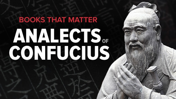 books that matter  the analects of confucius