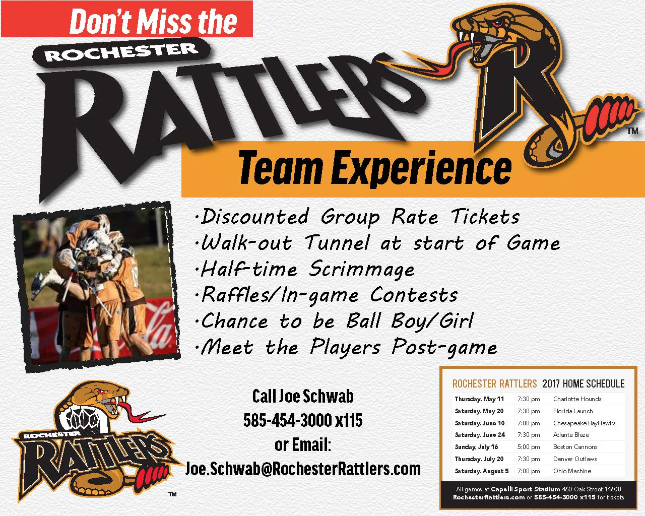 Rochester Rattlers Group Promo