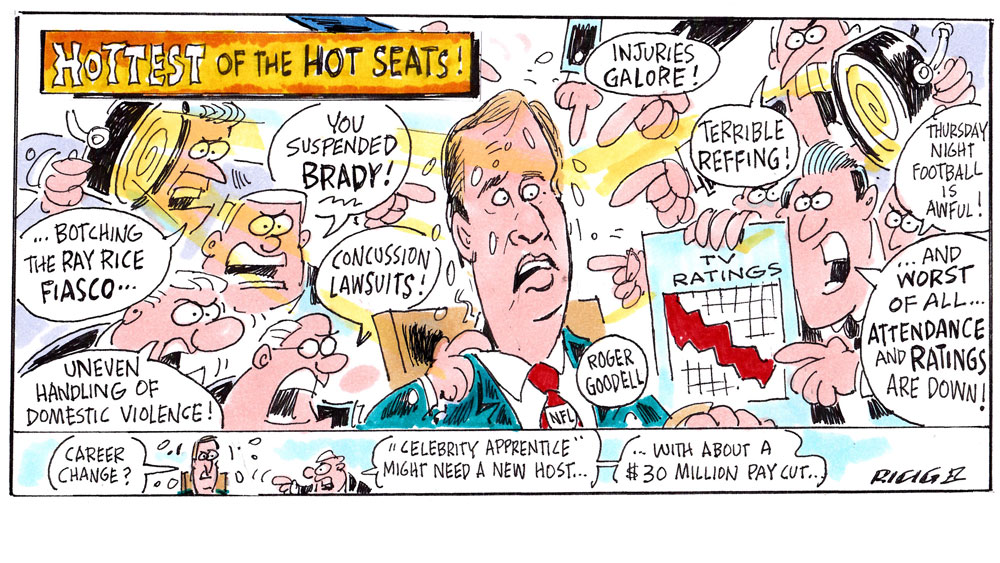 Issue 227: Ricig: Roger Goodell On Hottest Of The Hot Seats