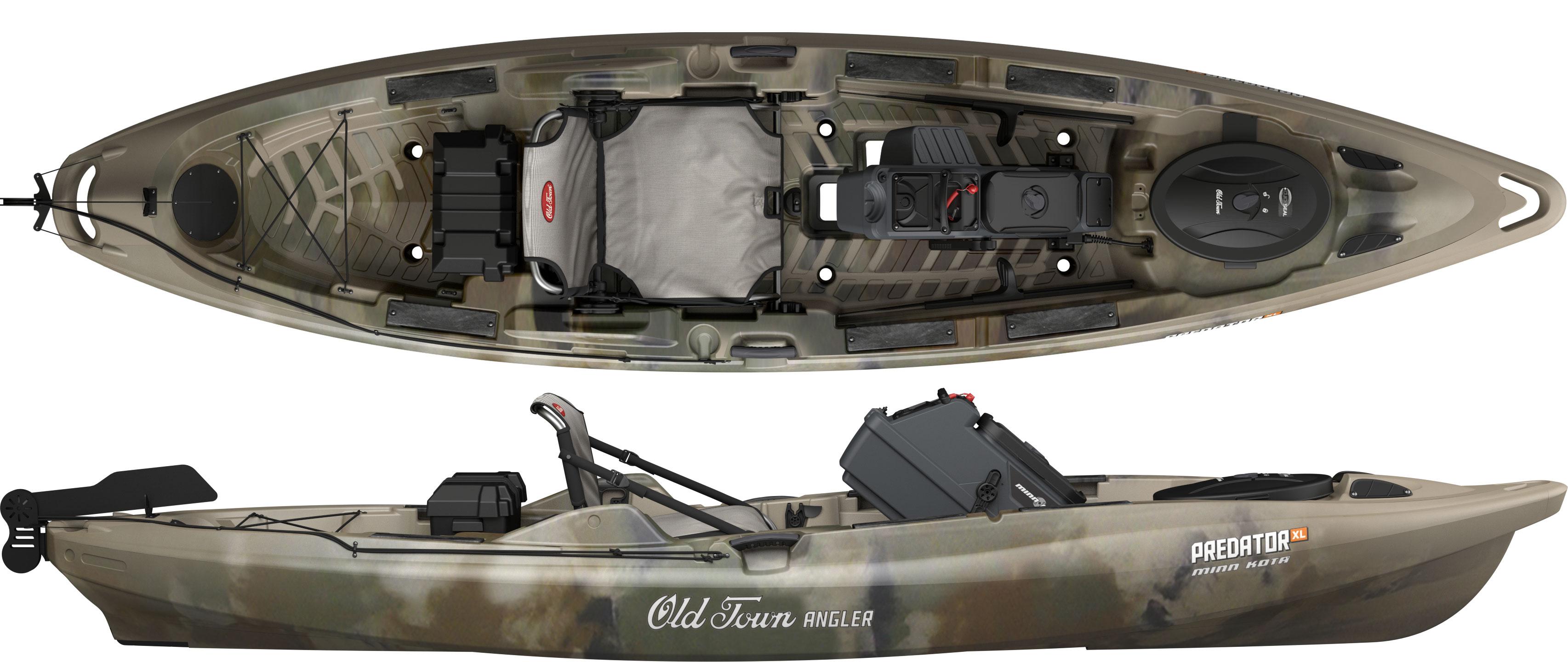 Old Town Predator XL Minn Kota kayak