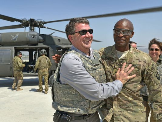 Ash Carter and Ron Lewis
