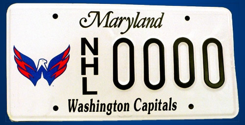 Maryland License Plate