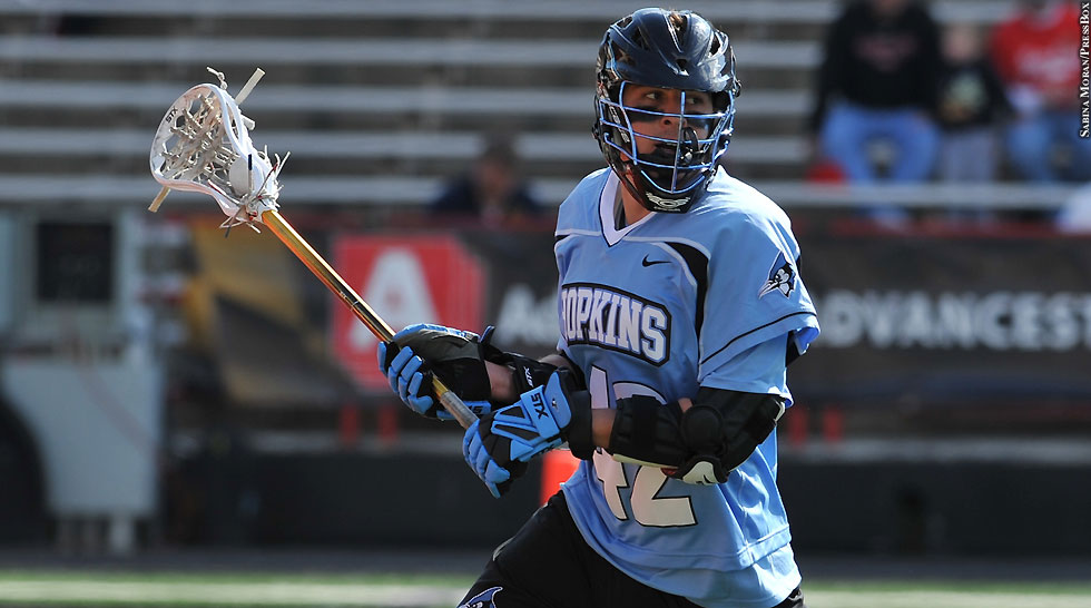 Johns Hopkins Lacrosse 2013: Wells Stanwick (blue jersey)