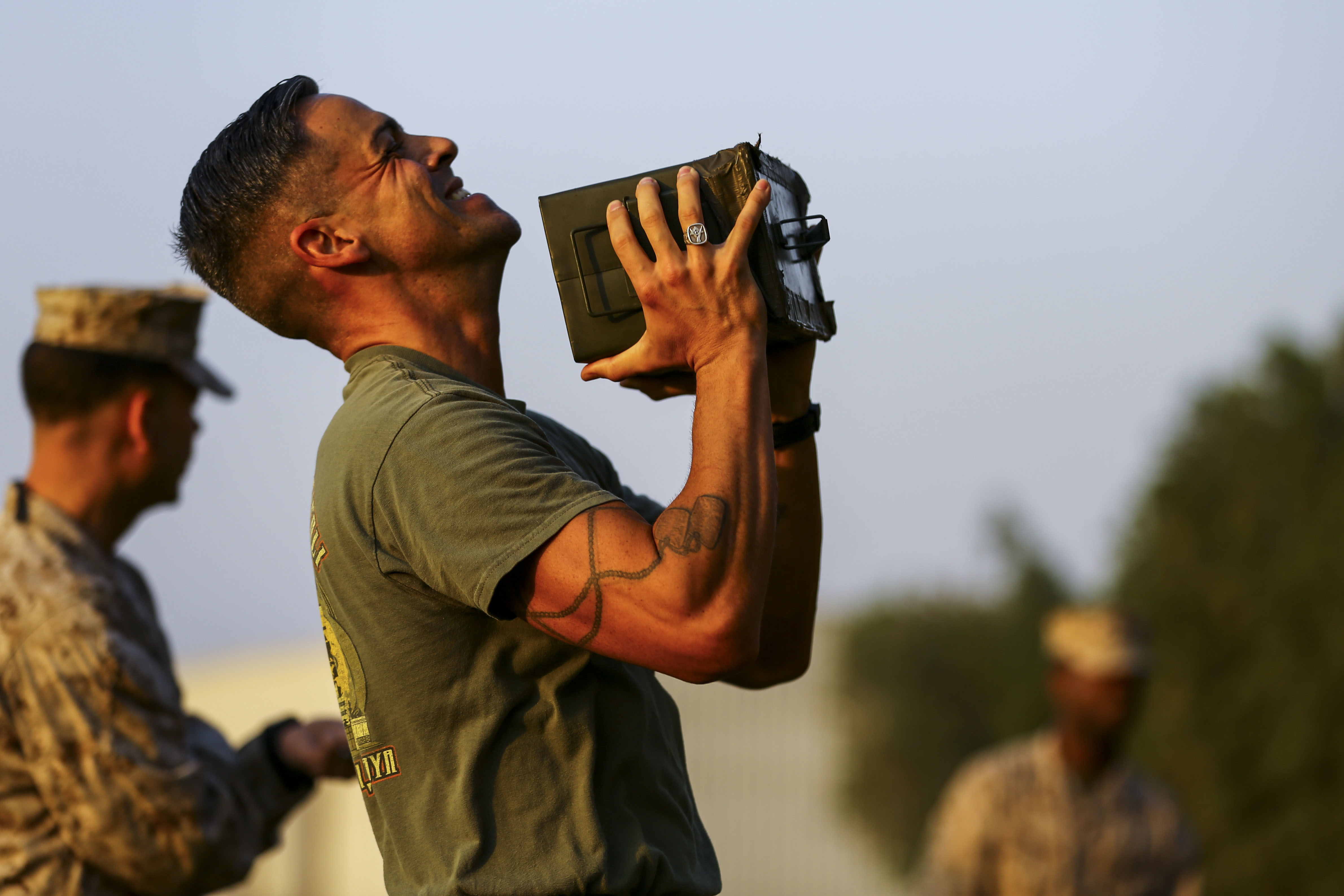 5th Marine Expeditionary Brigade Combat Fitness Test