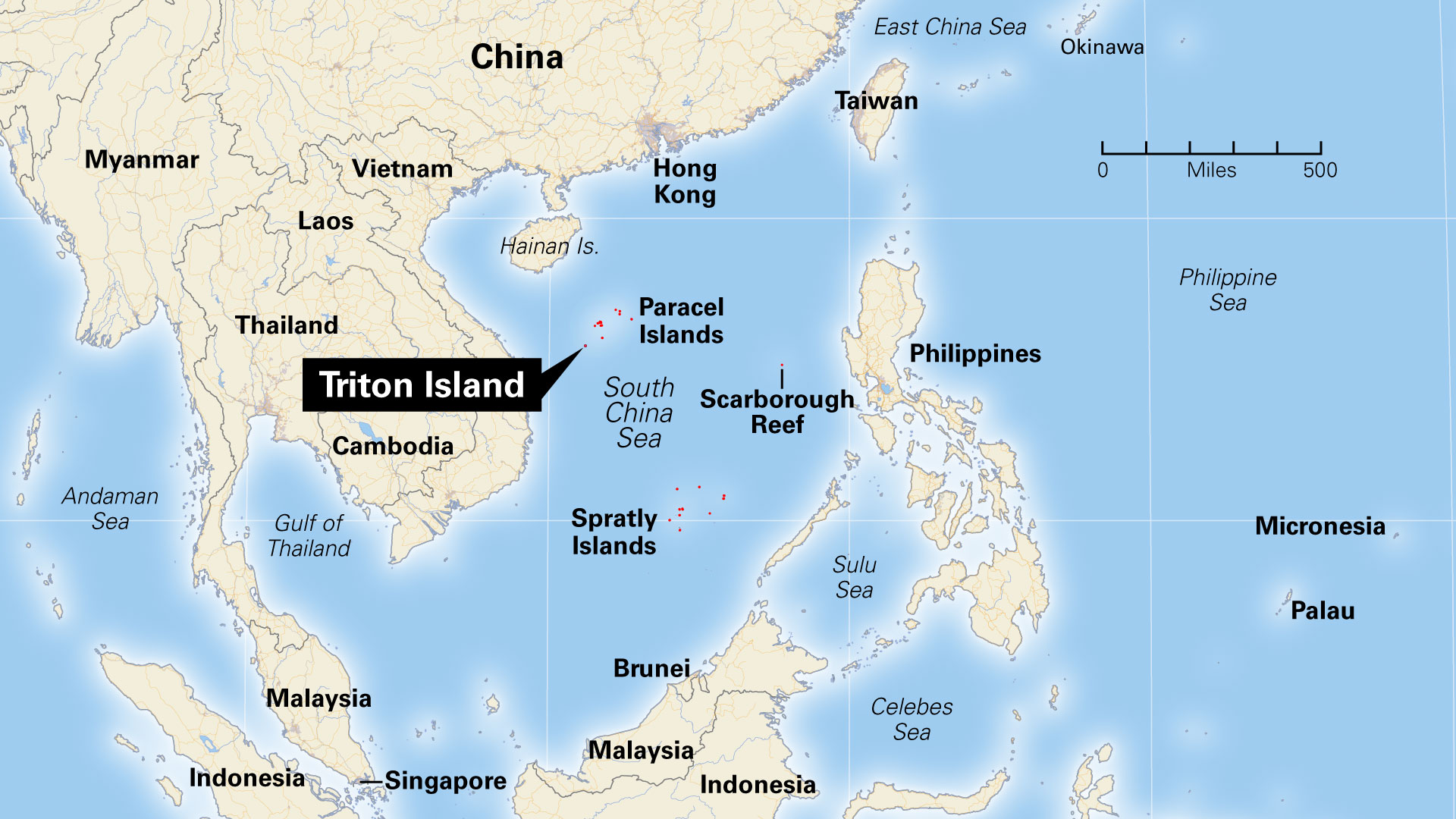 Triton Island in the South China Sea