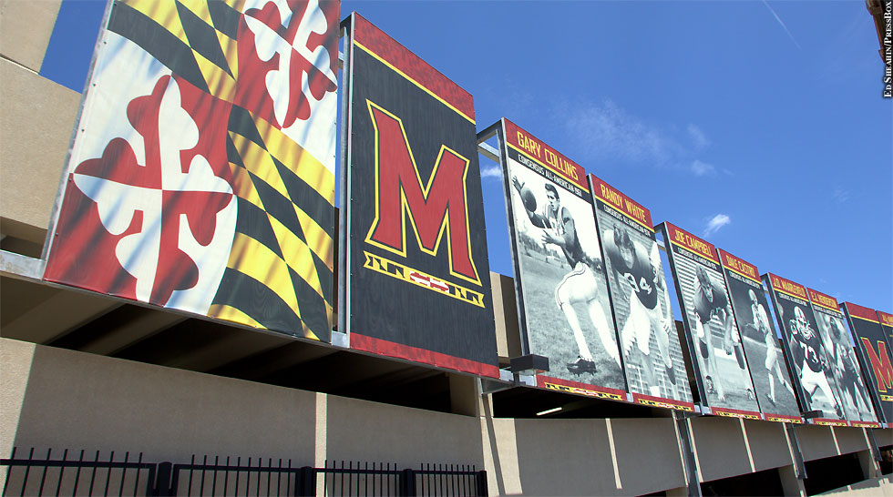 Issue 212: Maryland Terps football banners at Byrd Stadium