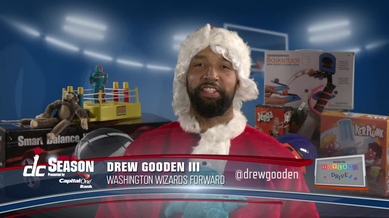 Drew Gooden s Wizards Toy Drive PSA