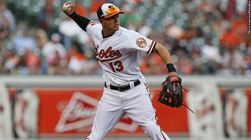 Orioles 2013: Manny Machado (throwing)