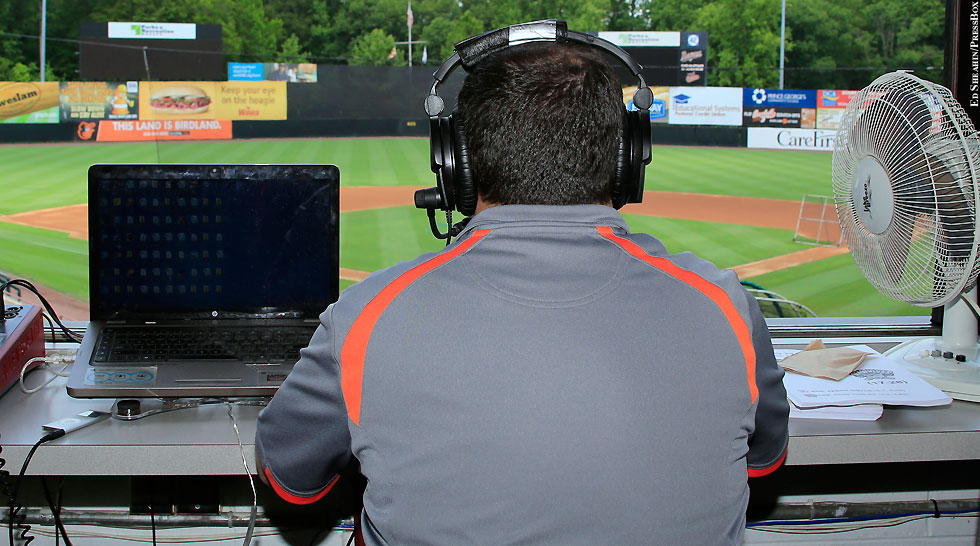 Issue 210: Cover photo (Bowie Baysox Radio Announcer)