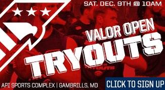 Valor Football Tryout Online Registration Open