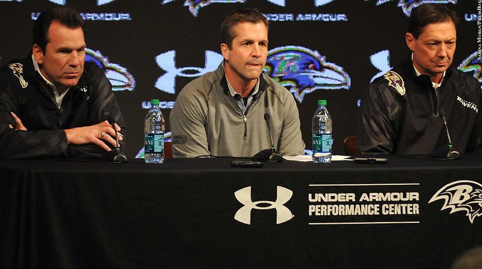 Ravens 2014: Gary Kubiak, John Harbaugh, Rick Dennison