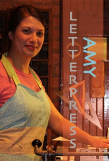 Image of Letterpress Amy